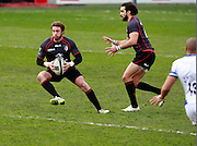 Maxime Medard attacks. Stade Toulousain v Bath, European Champions Cup 2015, Stade Ernest Wallon, Toulouse, France, 18th Jan 2015.