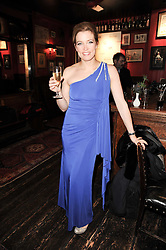 AMANDA HAMILTON at the Johnnie Walker Blue Label great Scot Award 2010 in association with The Spectator and Boisdale held at Boisdale of Belgravia, 22 Ecclestone Street, London SW1 on 24th February 2010.