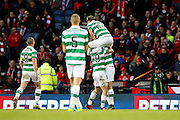 Celtic's celebrate their second goal scored by James Forrest (49) during the Betfred Scottish Cup  Final match between Aberdeen and Celtic at Hampden Park, Glasgow, United Kingdom on 27 November 2016. Photo by Craig Galloway.