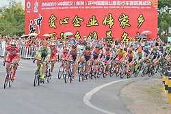September 16, 2016 - Wuhan, China - Riders during the opening lap of the final sixth stage, 99.6km Wuhan Xinzhou Circuit race, of the 2016 Tour of China 1..On Friday, 16 September 2016, in Xinzhou, Wuhan , China. (Credit Image: © Artur Widak/NurPhoto via ZUMA Press)