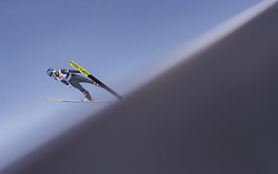 28.02.2019, Seefeld, AUT, FIS Weltmeisterschaften Ski Nordisch, Seefeld 2019, Skisprung, Herren, Qualifikation, im Bild Philipp Aschenwald (AUT) // Philipp Aschenwald of Austria during his Qualification Jump of men's Skijumping of FIS Nordic Ski World Championships 2019. Seefeld, Austria on 2019/02/28. EXPA Pictures © 2019, PhotoCredit: EXPA/ JFK