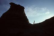 Hiker, Dog, Utah, Desert