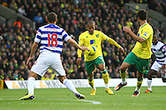 Picture by Paul Chesterton/Focus Images Ltd.  07904 640267.26/11/11.Simeon Jackson of Norwich has a shot on goal during the Barclays Premier League match at Carrow Road Stadium, Norwich.
