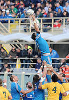 Florence, Italy -In the photo Zanni in touchè.Artemio Franchi stadium in Florence Rugby test match Cariparma.Italy vs Australia. (Credit Image: © Gilberto Carbonari).