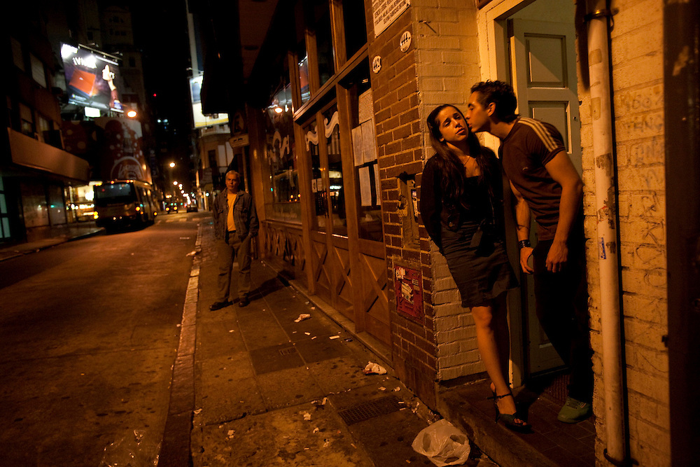 Ceci and Meme outside a Milonga in Buenos Aires after a long night of working and partying.