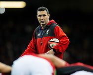 Attack Coach Stephen Jones of Wales during the pre match warm up<br /> <br /> Photographer Simon King/Replay Images<br /> <br /> Friendly - Wales v Barbarians - Saturday 30th November 2019 - Principality Stadium - Cardiff<br /> <br /> World Copyright © Replay Images . All rights reserved. info@replayimages.co.uk - http://replayimages.co.uk
