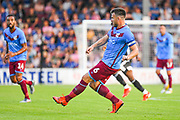 Andy Butler (6) of Scunthorpe United (6) passes the ball during the Pre-Season Friendly match between Scunthorpe United and Leicester City at Glanford Park, Scunthorpe, England on 16 July 2019.