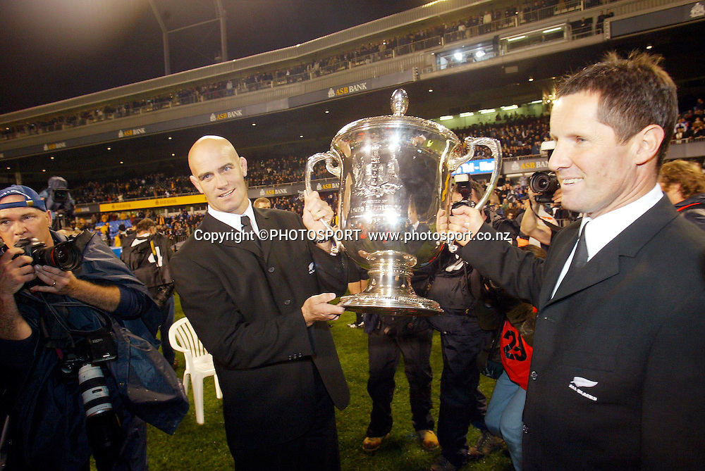 16th August, 2003. Eden Park, Auckland, New Zealand. Bledisloe Cup Match. New Zealand v Australia.<br />