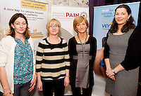 MAry Herron, Portumna Retirement Village, Aine O Toole, Portumna Retirement Village, Maggie Budzowska, Coral Haven Nursing home and  Colette Holland , Grunenthal at the Radisson Blu, Galway for the Assessing & Managing Pain, A Nursing Perspective lecture. Photo:Andrew Downes