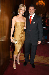 CEM & CAROLINE HABIB at a fashion show and dinner hosted by Shangri-la Hotels and Resorts and Andy Wong featuring fashion by new designer Lu Kun held at The Goldsmiths Hall, Foster Lane, London on 25th April 2005.<br />