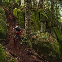 Jordan Hodder riding in Squamish, BC