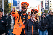 Cincinnati Bengals fans outside Wembley during the International Series match between Los Angeles Rams and Cincinnati Bengals at Wembley Stadium, London, England on 27 October 2019.