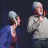 Nederland, Abcoude, 13 maart 2016.<br /> Kinderboekenschrijver Jacques Vriens in de kindervoorstelling de Kindertemmer in Theater Piet Mondriaan.<br /> <br /> <br /> Foto: Jean-Pierre Jans