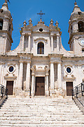 Ancient old stone Church of La Modena de Rosario in Palma di Montechiaro, Sicily, Italy