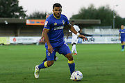 AFC Wimbledon striker Andy Barcham (17) during the EFL Trophy match between AFC Wimbledon and U23 Swansea City at the Cherry Red Records Stadium, Kingston, England on 30 August 2016. Photo by Stuart Butcher.
