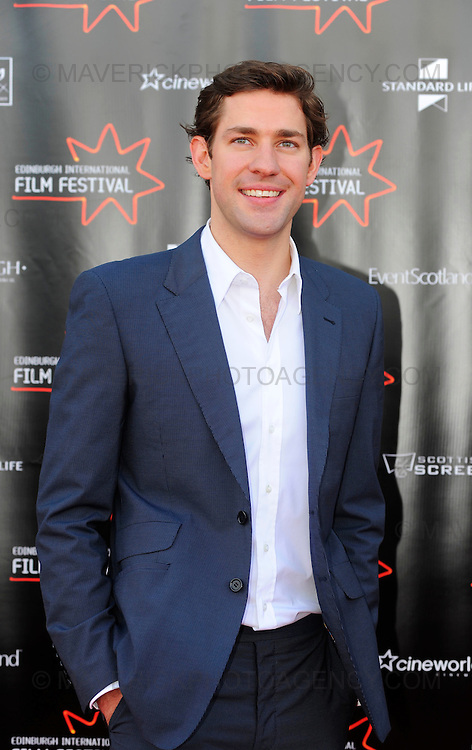 Stars turned out for the premier of Director Sam Mendes new film Away We Go which opened the 2009 Edinburgh Film Festival.  Pictured actor John Krasinski.