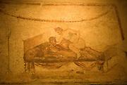 Erotic paintings in Pompeji, Italy