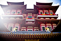 The Buddha Tooth Relic temple in Chinatown, Singapore.