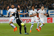 Jordan Amavi of Olympique de Marseille and Rafael of Olympique Lyonnais during the French Championship Ligue 1 football match between Olympique de Marseille and Olympique Lyonnais on march 18, 2018 at Orange Velodrome stadium in Marseille, France - Photo Philippe Laurenson / ProSportsImages / DPPI