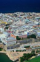 Aerial view of Old San Juan
