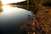 early morning sunrise at a lake