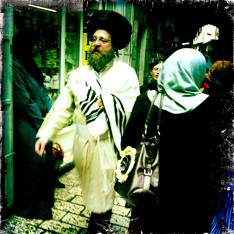 Jerusalem, Israel. September 24th 2011.A street scene in the historical old city...