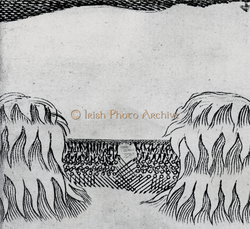 Aurora Borealis observed near Croydon, Surrey, England, in 1660, said to resemble armies fighting.