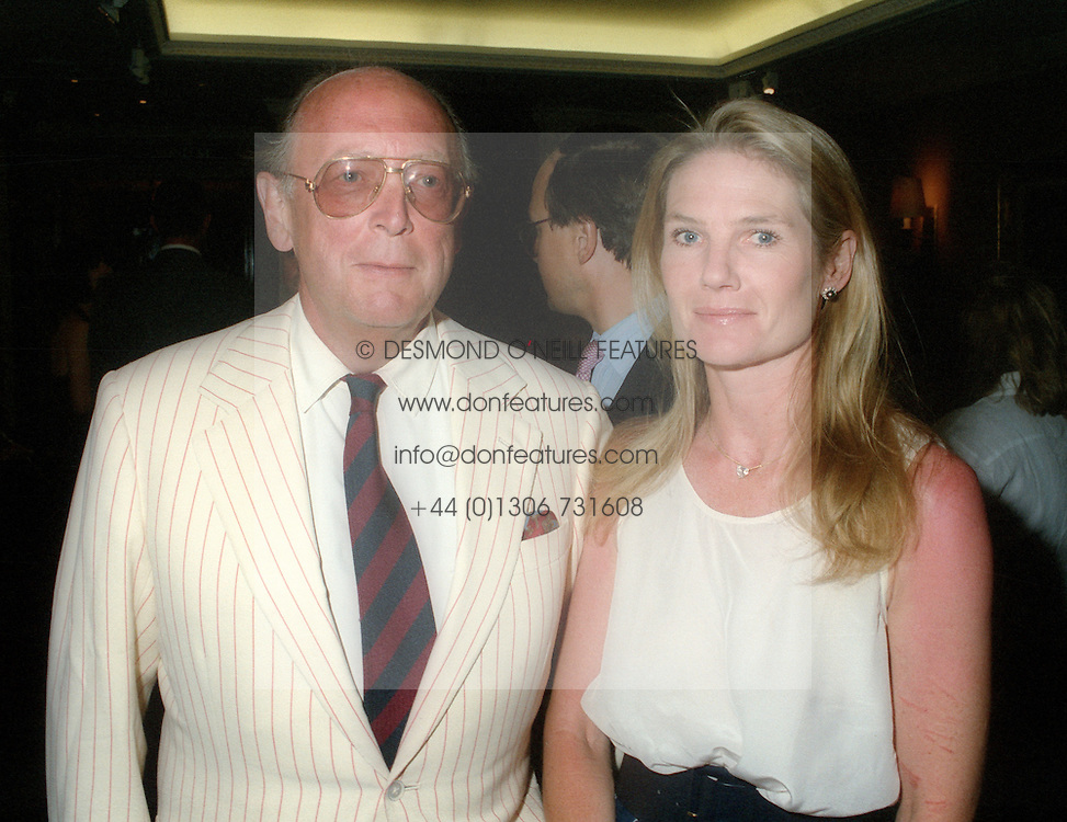 CHRISTOPHER SHAW and LADY MARY-GAYE CURZON at a reception in London in June 1995.