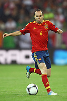 Football - European Championships 2012 - Spain vs. Ireland<br /> Andres Iniesta of Spain at the Baltic Arena, Gdansk
