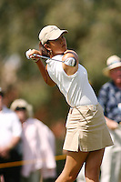 March 25, 2004; Rancho Mirage, CA, USA;  14 year old amateur Michelle Wie tees off at the 13th hole during the 1st round of the LPGA Kraft Nabisco golf tournament held at Mission Hills Country Club.  Wie finished the day tied for 7th with a 3 under par 69.<br />