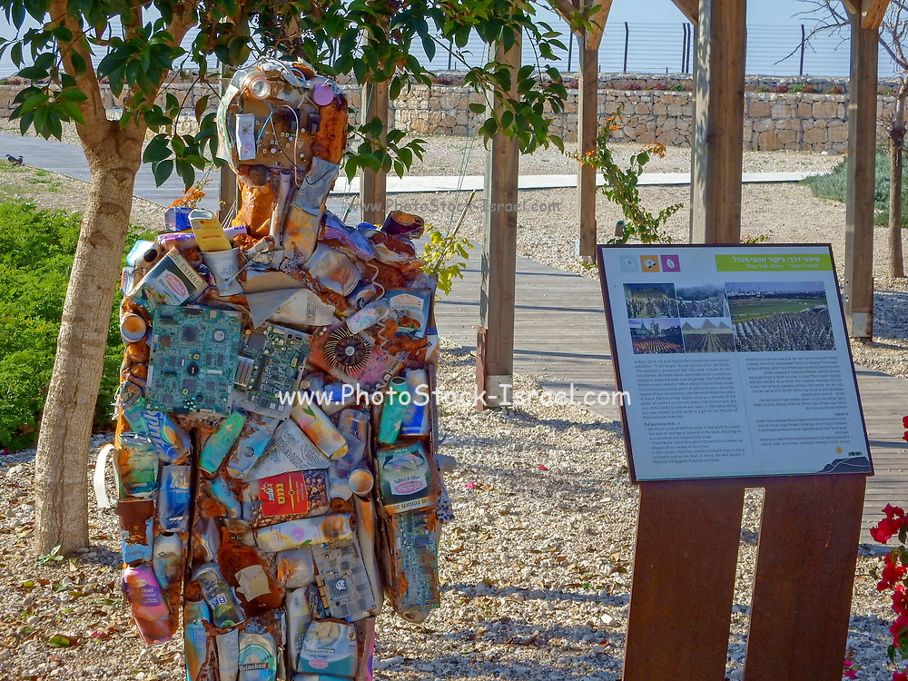 """Trash People"" exhibition at the Hiriya Recycling Park (by HA Schult ) Israel, Dan Region, Hiriya, Ariel Sharon Park"