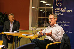 Professor Michael Keating and journalist Iain Macwhirter discuss the newly published book, Debating Scotland - Issues of Independence and Union in the 2014 Referendum.<br /> <br /> The book, edited by Professor Keating, analyses the issues in the Scottish independence referendum campaign of 2014. It comes from academics at the Centre on Constitutional Change, who conducted one of the largest research projects on the referendum, examining the political, economic, legal, social security and international issues at stake and how they were handled in the debate.<br /> <br /> The book concludes with an analysis of voter responses, based upon original survey research, which demonstrates how perceptions of risk and uncertainty on the main issues played a key role in the outcome.
