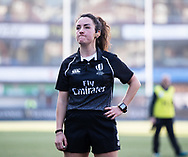 Referee Clara Munarini <br /> <br /> Photographer Simon King/Replay Images<br /> <br /> Six Nations Round 3 - Wales Women v England Women - Sunday 24th February 2019 - Cardiff Arms Park - Cardiff<br /> <br /> World Copyright © Replay Images . All rights reserved. info@replayimages.co.uk - http://replayimages.co.uk