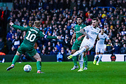 Leeds United defender Liam Cooper (6) passes the ball during the EFL Sky Bet Championship match between Leeds United and Sheffield Wednesday at Elland Road, Leeds, England on 11 January 2020.