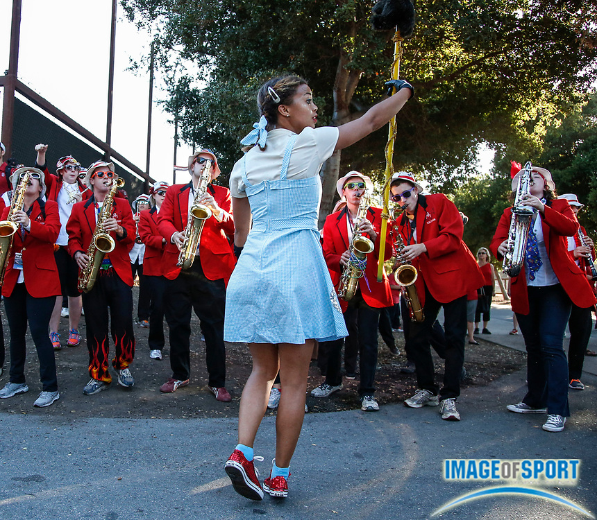 Sep7, 2013; Stanford, CA, USA; Stanford Cardinal marching band at rally before game against the San Jose State Spartans at  Stanford Stadium.