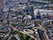 Nederland, Zuid-Holland, Den Haag, 14-09-2019; zicht centrum van de stad met onder andere Spui, Spuiplein, Stadhuis en  Nieuwe Kerk.<br /> Center of the city including Spui, Town Hall.<br /> luchtfoto (toeslag op standard tarieven);<br /> aerial photo (additional fee required);<br /> copyright foto/photo Siebe Swart