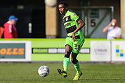 Forest Green Rovers Reece Brown(10) passes the ball forward during the EFL Sky Bet League 2 match between Forest Green Rovers and Milton Keynes Dons at the New Lawn, Forest Green, United Kingdom on 30 March 2019.