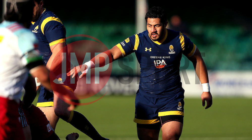 Alafoti Faosiliva of Worcester Warriors - Mandatory by-line: Robbie Stephenson/JMP - 28/01/2017 - RUGBY - Sixways Stadium - Worcester, England - Worcester Warriors v Harlequins - Anglo Welsh Cup