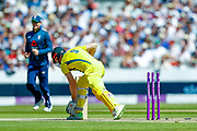 Australia ODI batsman Shaun Marsh is stumped during the 5th One Day International match between England and Australia at Old Trafford, Manchester, England on 24 June 2018. Picture by Simon Davies.