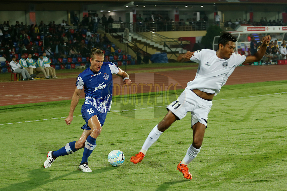 Erik Endel Paartalu of Bengaluru FC during match 19 of the Hero Indian Super League between NorthEast United FC and Bengaluru FC held at the Indira Gandhi Athletic Stadium, Guwahati India on the 8th December 2017<br /> <br /> Photo by: Ron Gaunt / ISL / SPORTZPICS