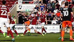 Jay O'Shea of Sheffield United shoots at goal - Mandatory by-line: Robbie Stephenson/JMP - 08/04/2017 - FOOTBALL - Sixfields Stadium - Northampton, England - Northampton Town v Sheffield United - Sky Bet League One