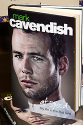 In the frame - Mark Cavendish's Book.<br /> British Olympian, regarded as one of the finest sprint cyclists in the world, signs copies of his book At Speed, at Waterstones, London, United Kingdom. Friday, 6th December 2013. Picture by Nils Jorgensen / i-Images
