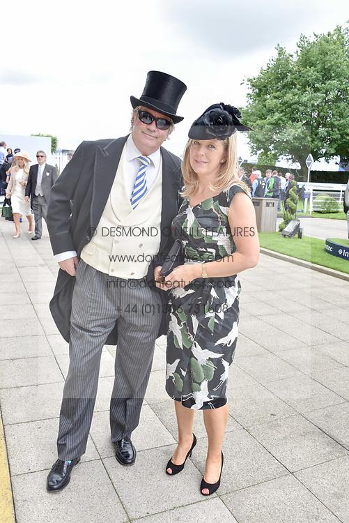 The Duke & Duchess of Marlborough at The Investec Derby, Epsom Racecourse, Epsom, Surrey, England. 02 June 2018.