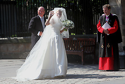 Wedding of Zara Phillips and Mike Tindall at Canongate Kirk Church, Edinburgh, Saturday July 30th 2011. Photo by : Stephen Lock / i-Images<br /> File photo - Zara Phillips has given birth to a baby girl<br /> Zara Phillips has given birth to a baby girl at Gloucestershire Royal Hospital.<br /> Her husband and former England rugby player Mike Tindall was present at the birth.<br /> The weight of the baby was 7lbs 12oz, Buckingham Palace announced today.<br /> <br /> Picture filed Friday, 17th January 2014
