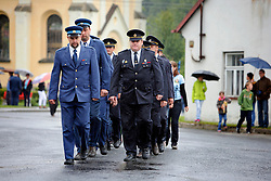 CZECH REPUBLIC VYSOCINA NEDVEZI 30JUL11 - CZECH REPUBLIC VYSOCINA NEDVEZI 30JUL11 - Voluntary firemen from neighbouring villages march during a gathering of fire crews in the village of Nedvezi, Vysocina, Czech Republic...This year marks the 120th anniversary of the voluntary firemen in Nedvezi, Vysocina, Czech Republic.....jre/Photo by Jiri Rezac....© Jiri Rezac 2011