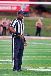 NORMAL, IL - October 06: Stacey Jameson during a college football game between the ISU (Illinois State University) Redbirds and the Western Illinois Leathernecks on October 06 2018 at Hancock Stadium in Normal, IL. (Photo by Alan Look)