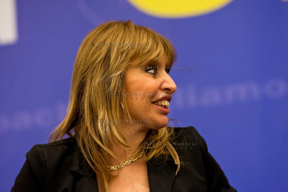 Roma, 29 Marzo 2015<br /> Convention di Forza Italia: Roma l'Italia e l'Europa che vogliamo. Alessandra Mussolini, eurodeputato di Forza Italia .<br /> Rome, March 29, 2015<br /> Convention  of Forza Italy: Rome the Italy and Europe that we want. Alessandra Mussolini, MEP Forza Italy.