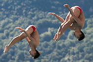 Team CHINA HUANG Bowen LI Linwei silver medal<br /> Bolzano, Italy <br /> 22nd FINA Diving Grand Prix 2016 Trofeo Unipol<br /> Diving<br /> Men's 3m synchronised springboard final <br /> Day 03 17-07-2016<br /> Photo Giorgio Perottino/Deepbluemedia/Insidefoto
