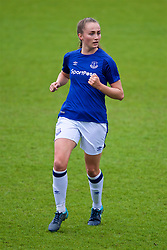 BIRKENHEAD, ENGLAND - Sunday, April 29, 2018: Everton's Megan Finnigan during the FA Women's Super League 1 match between Liverpool FC Ladies and Everton FC Ladies at Prenton Park. (Pic by David Rawcliffe/Propaganda)