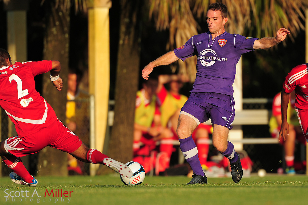Orlando City's Nick Sowers (3) in action during the Lions game against the Panama City Beach Pirates in their Premier Development League game at the Seminole Soccer Complex on May 19, 2012 in Sanford, Fla. ..©2012 Scott A. Miller.